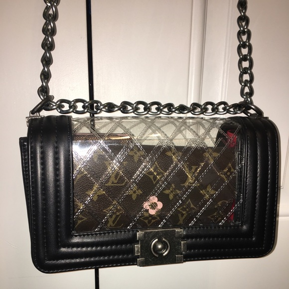 Micom Bags Clear Quilted Chain Strap Bag Poshmark